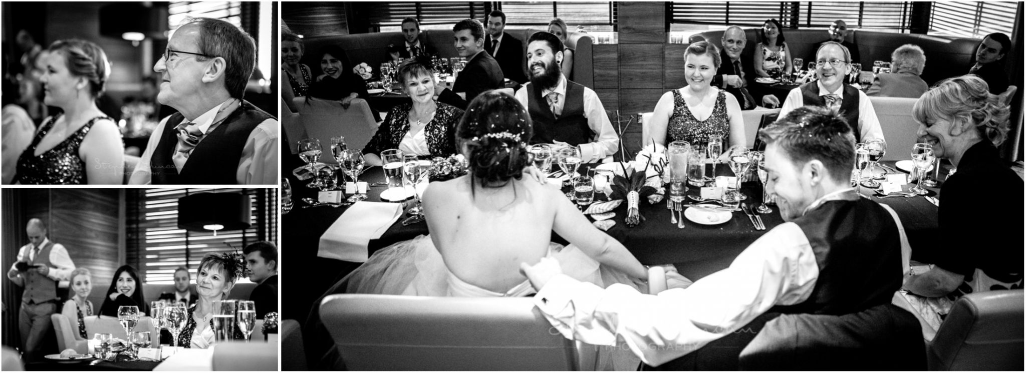 The Aviator wedding photography guest reactions during speeches