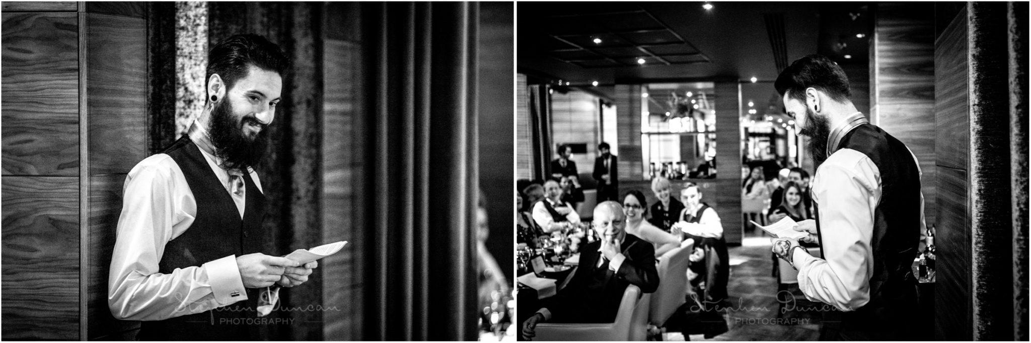 The Aviator wedding photography best man's speech