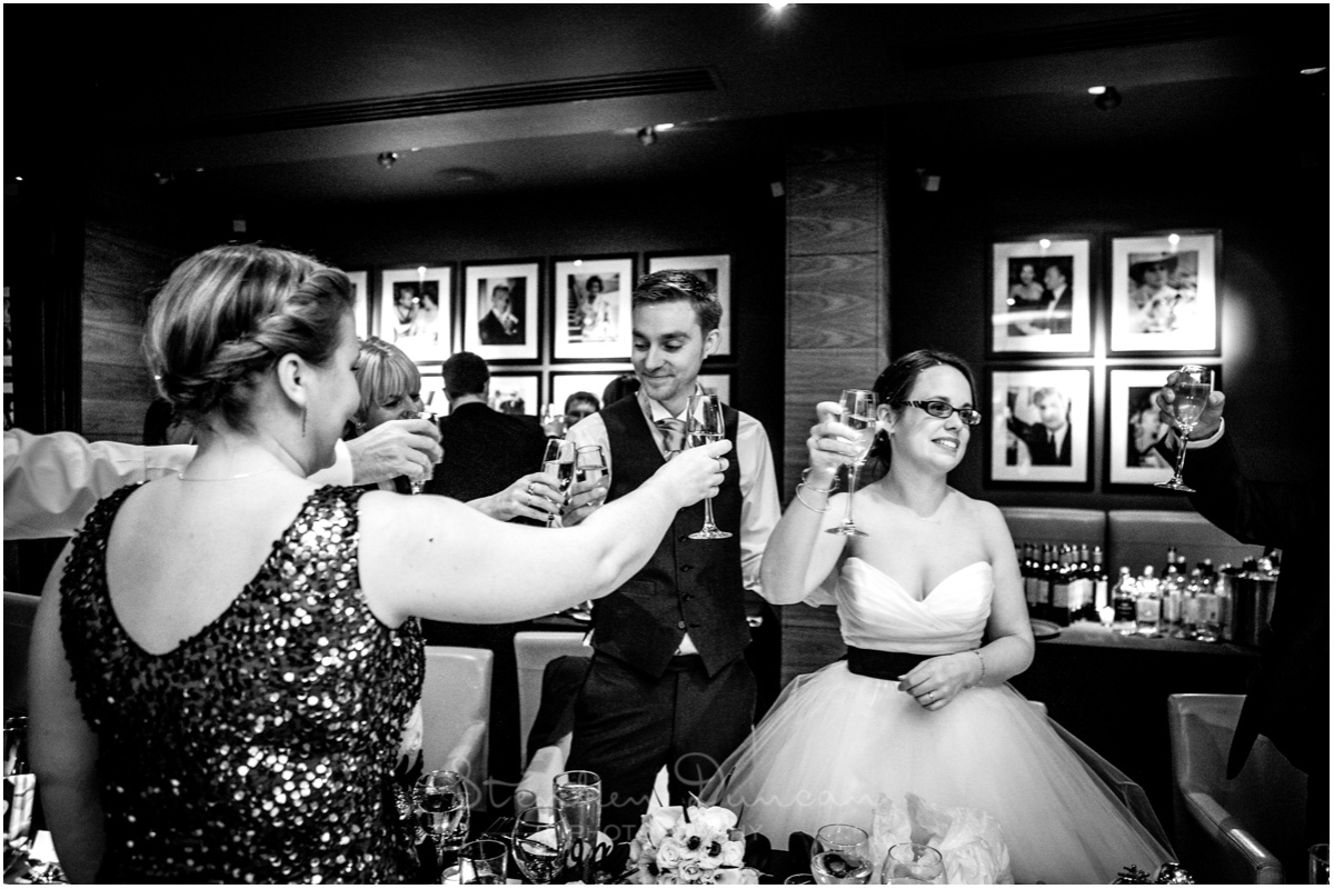 The Aviator wedding photography toasting speeches