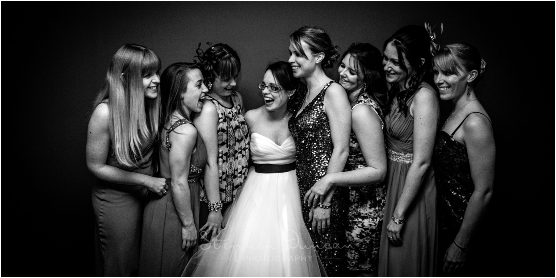 The Aviator wedding photography bride with friends