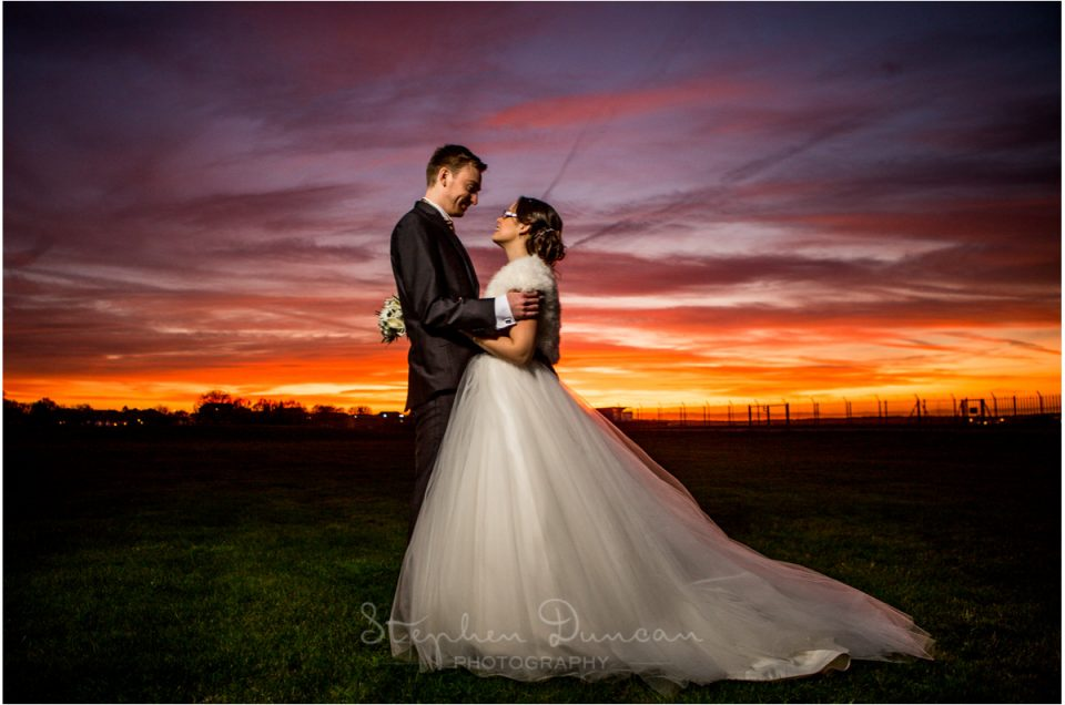 couple sunset portrait