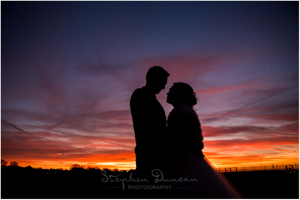 The Aviator wedding photography couple silhouette