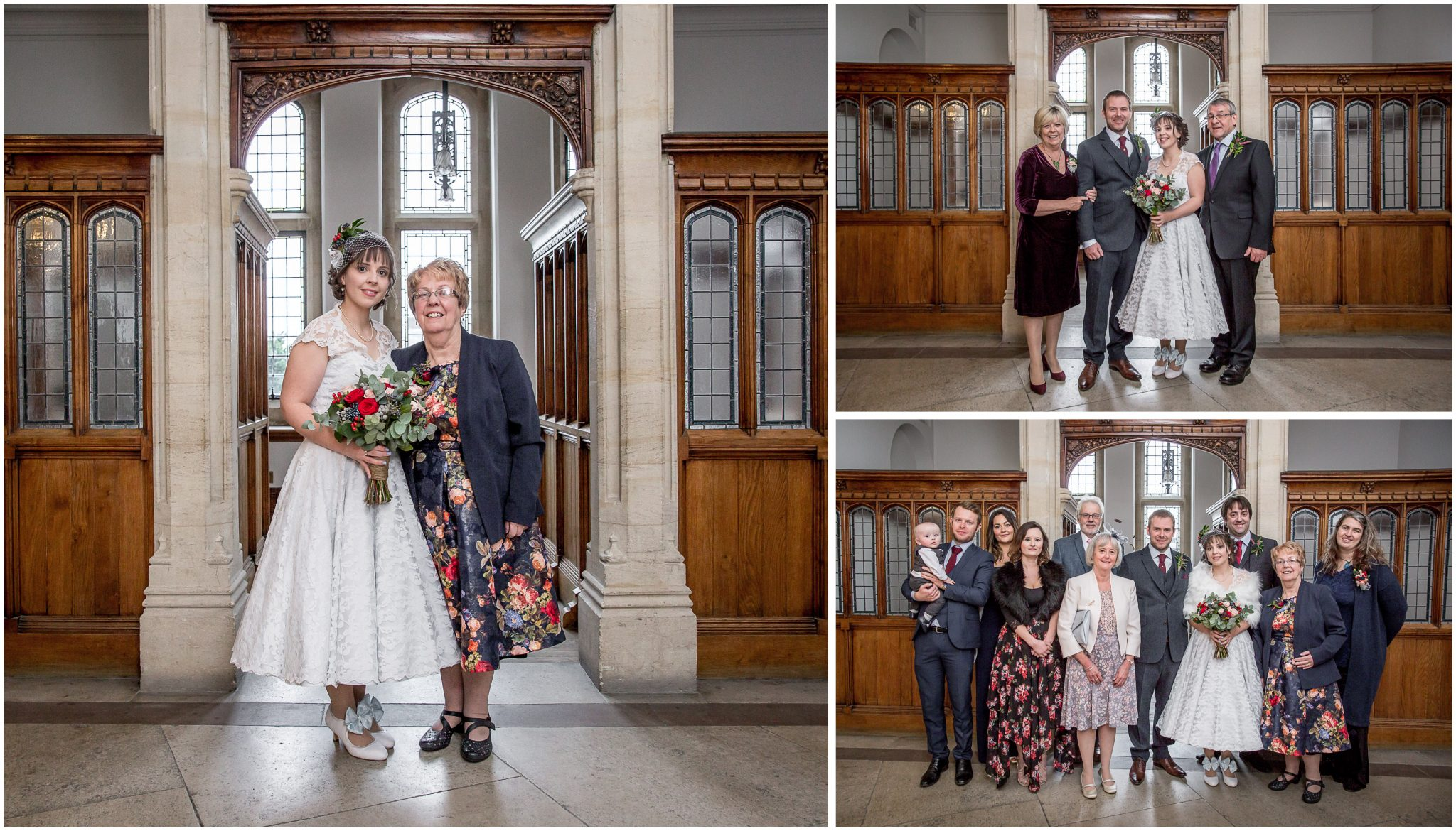 Castle Room Winchester wedding photography group photos inside registry office