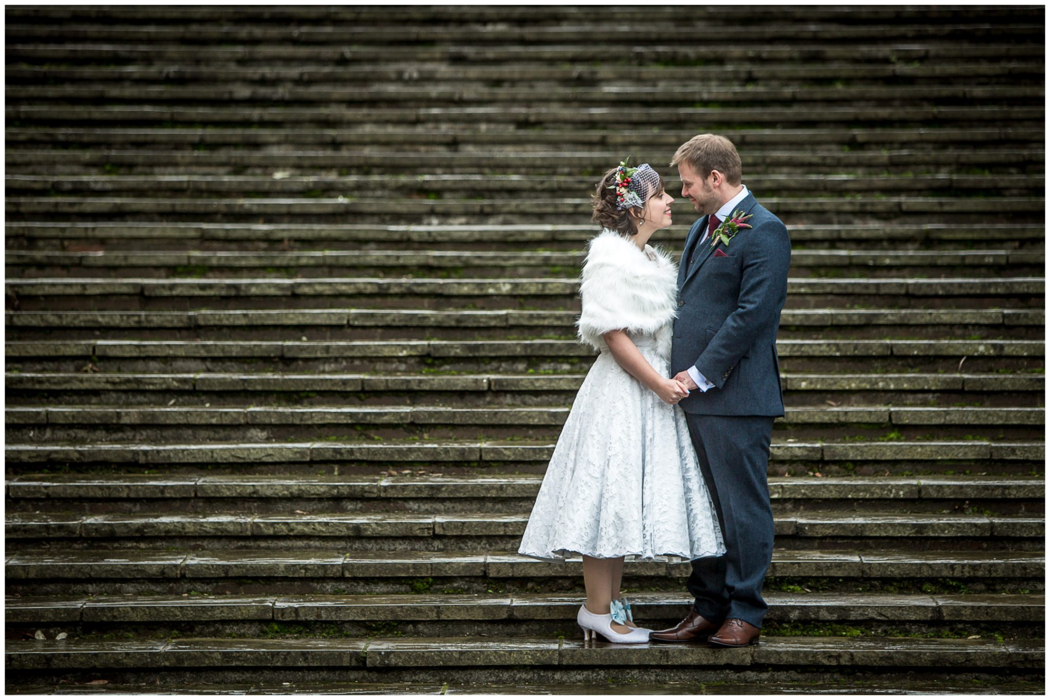 Castle Room Winchester wedding photography on law court steps