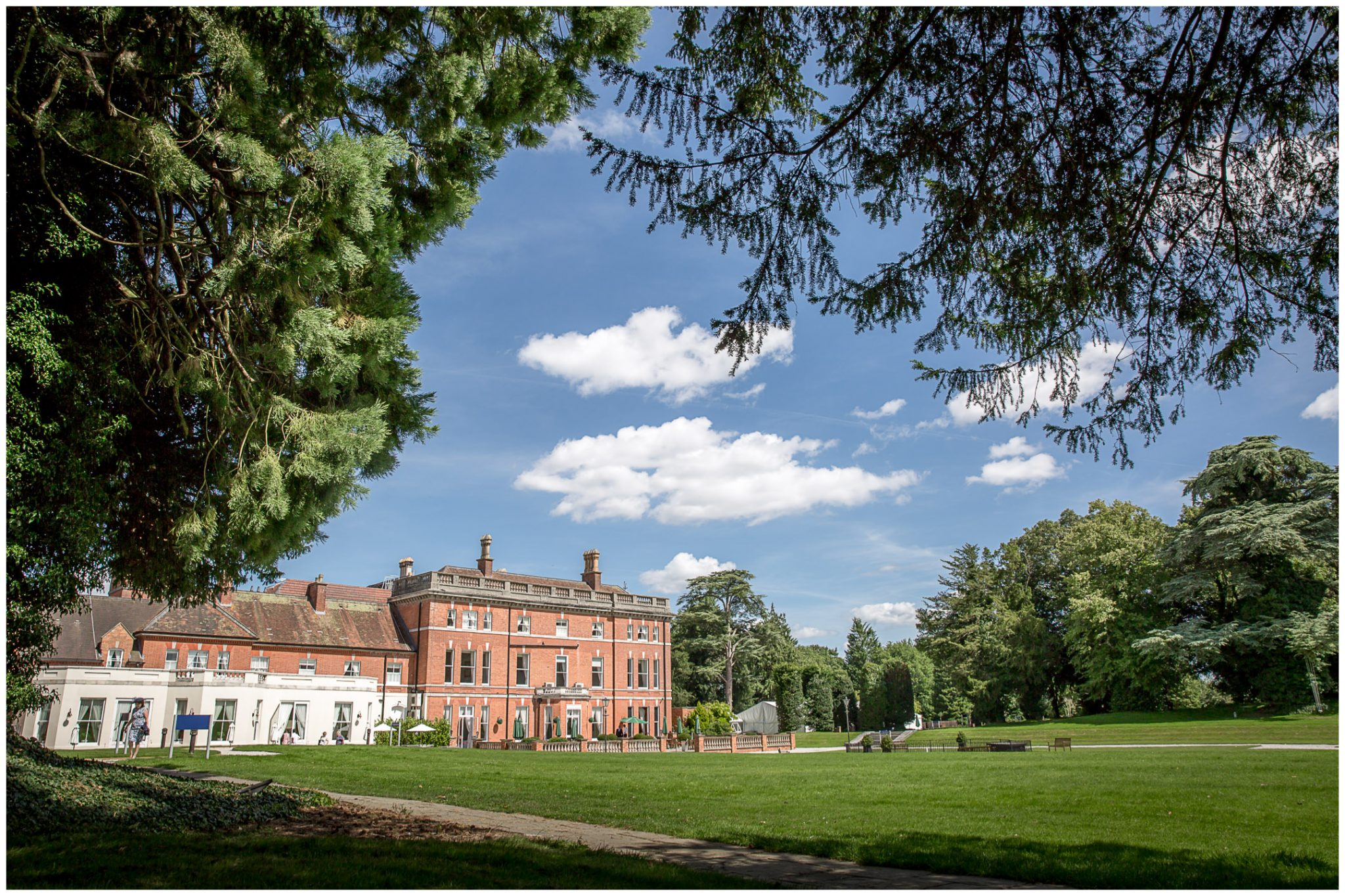Oakley Hall wedding photography venue exterior from rear