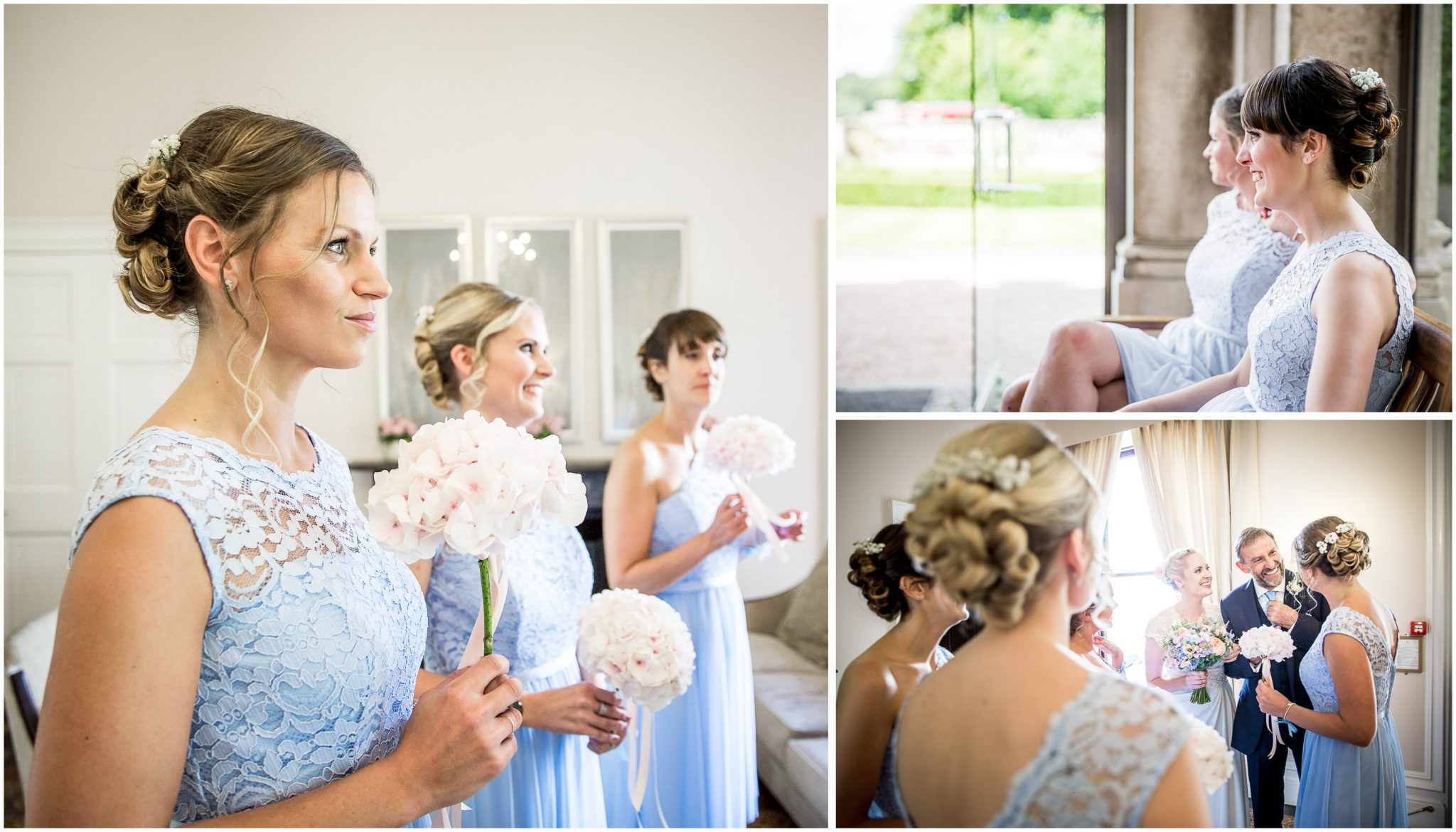 Oakley Hall wedding photography bridesmaids before ceremony