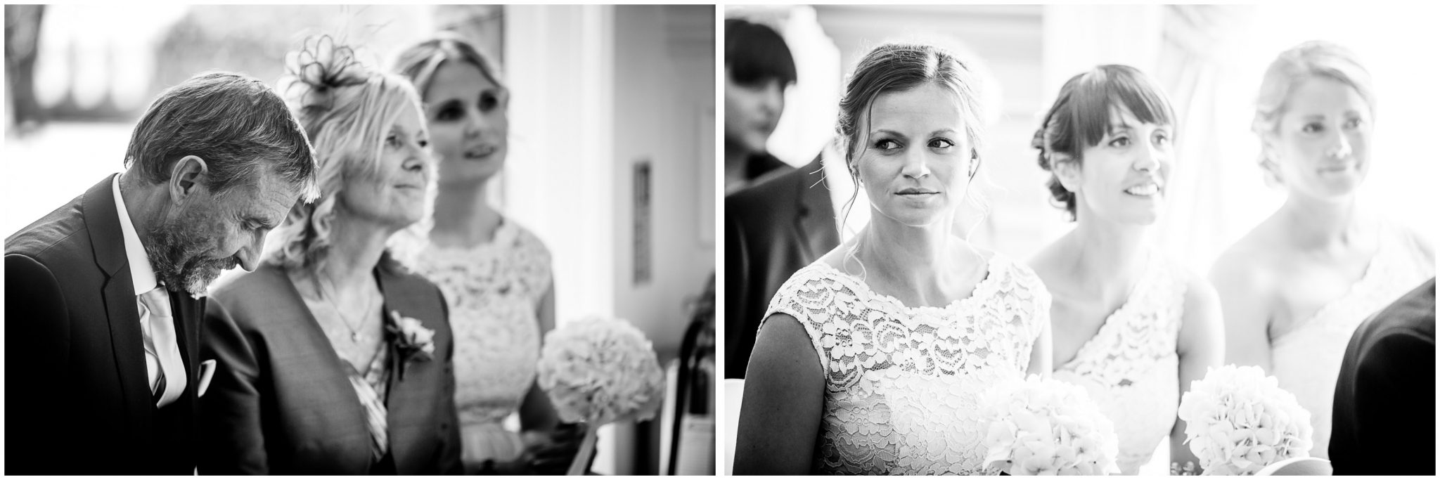 Oakley Hall wedding photography candid photos during marriage service