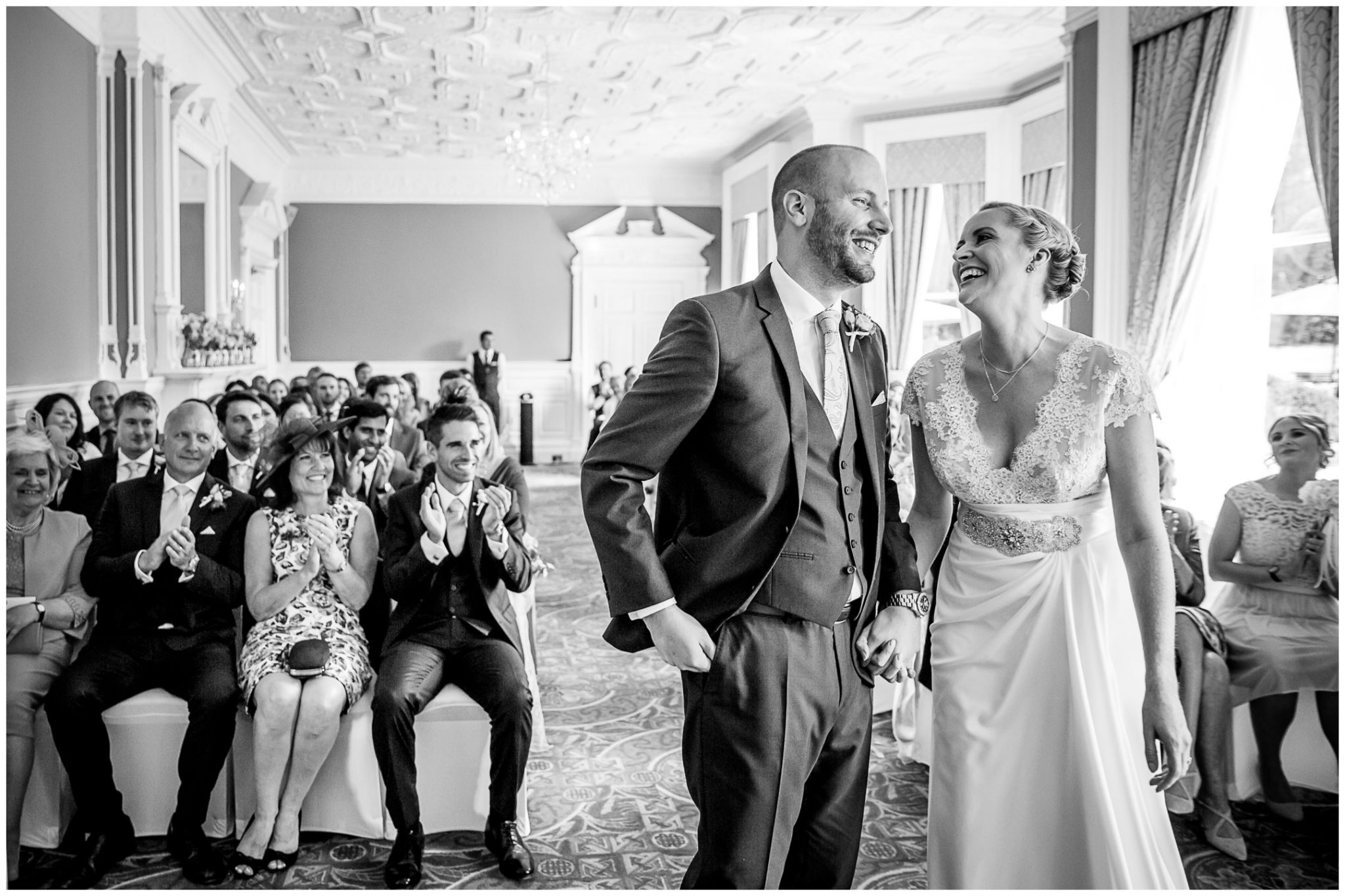 Oakley Hall wedding photography the couple