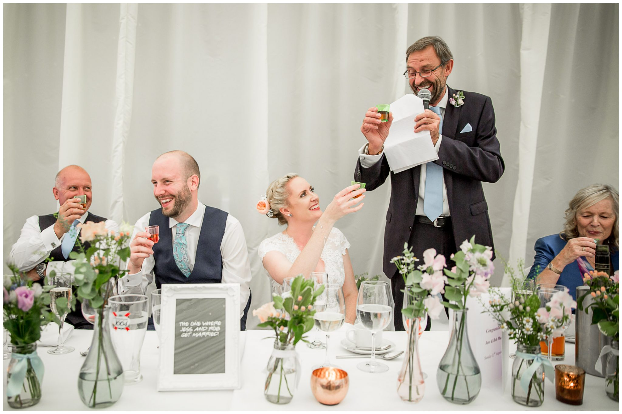 Oakley Hall wedding photography toasts during speeches