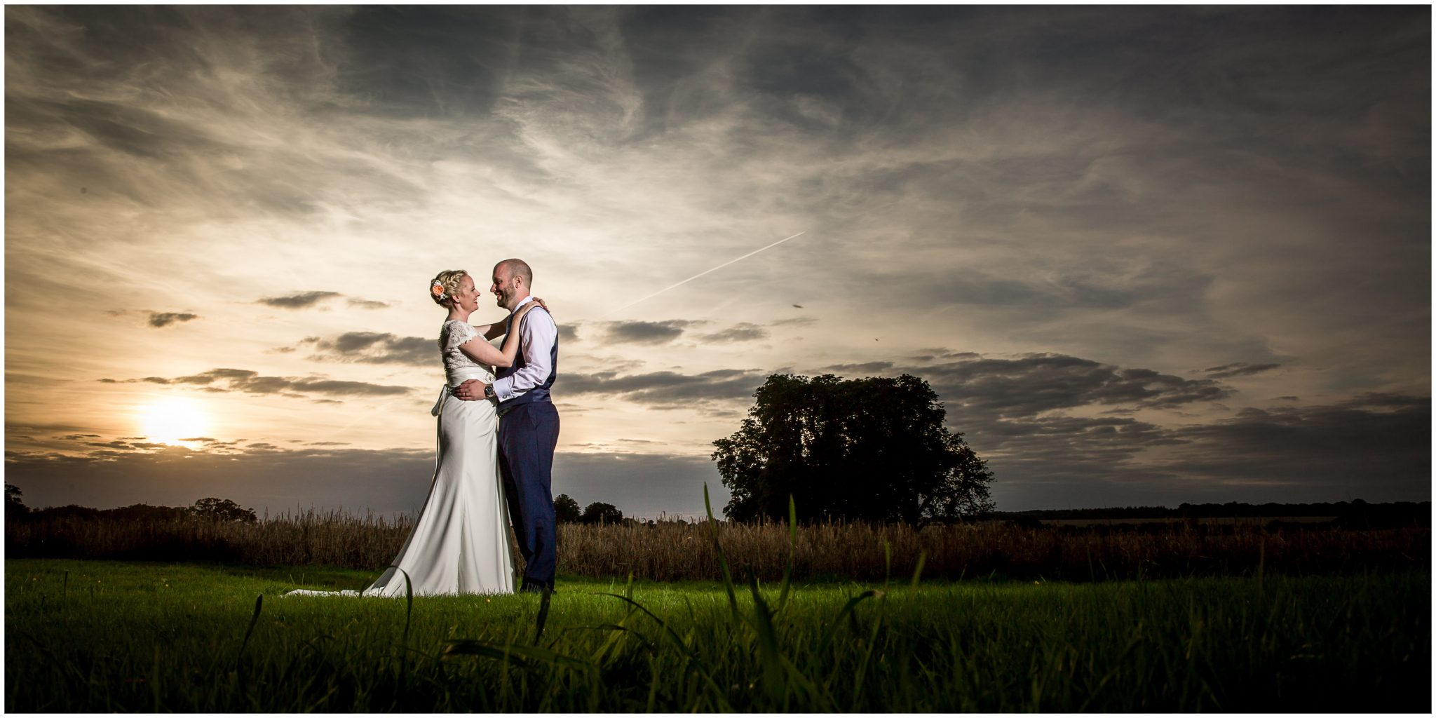 Oakley Hall wedding photography couple sunset portrait