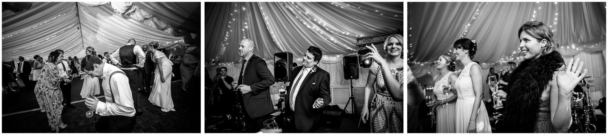 Oakley Hall wedding photography dancefloor action