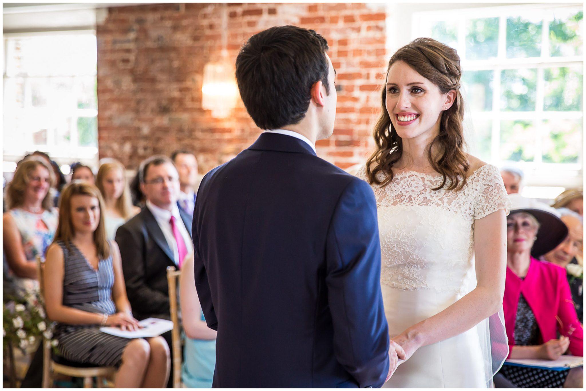 Sopley Mill Summer wedding couple make their vows