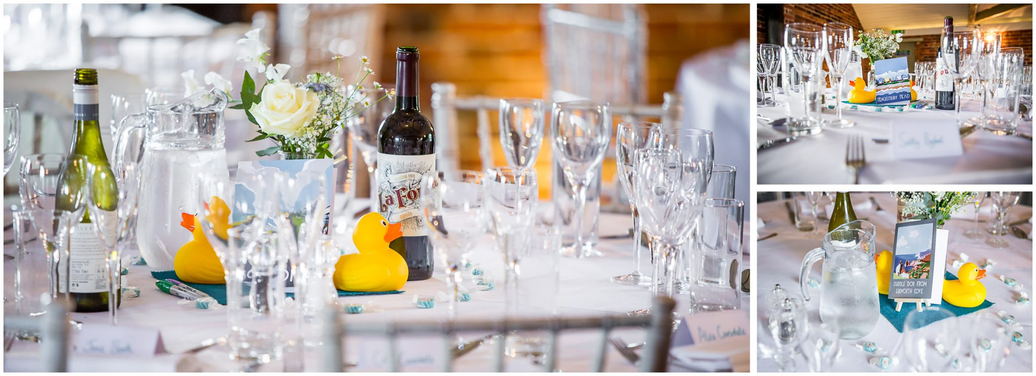 Sopley Mill Summer wedding table settings