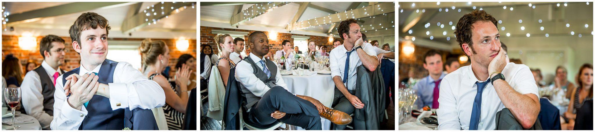 Sopley Mill Summer wedding watching the speeches