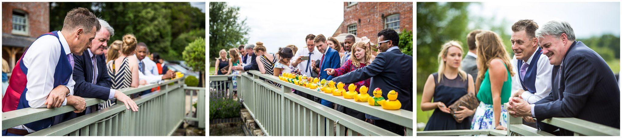 Sopley Mill Summer wedding duck race