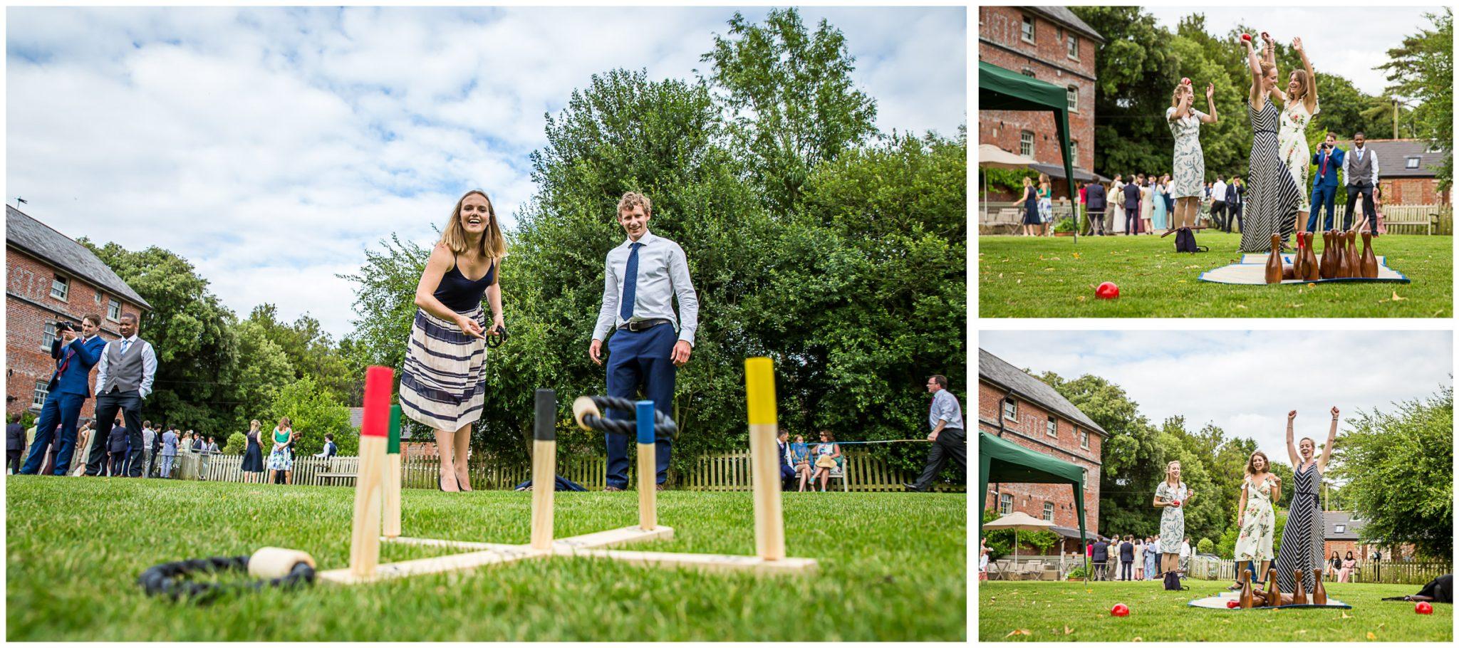 Sopley Mill Summer wedding garden games