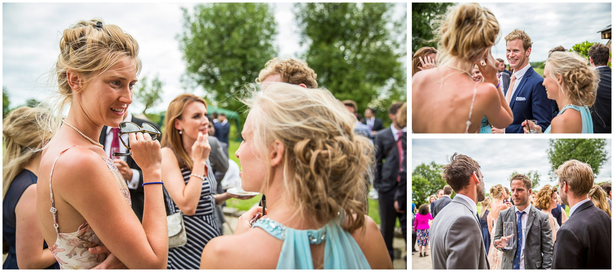 Sopley Mill Summer wedding candid photos of guests