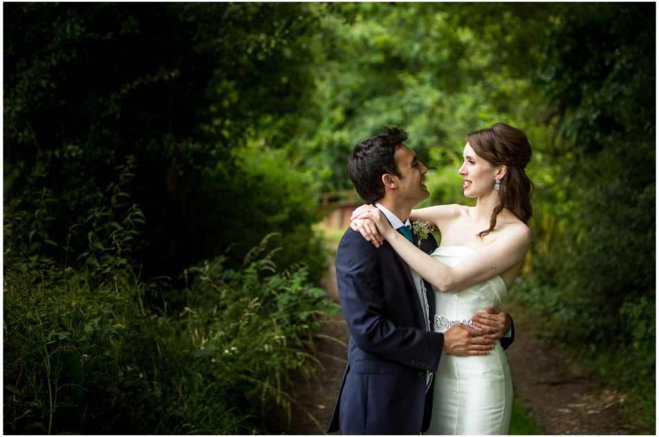 Sopley Mill Summer wedding couple portrait in natural light