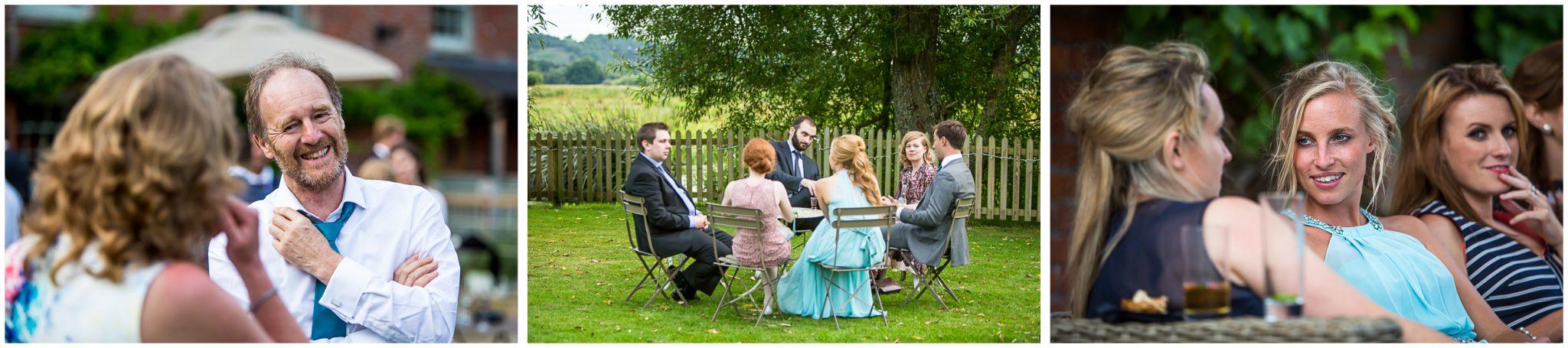 Sopley Mill Summer wedding after the wedding breakfast