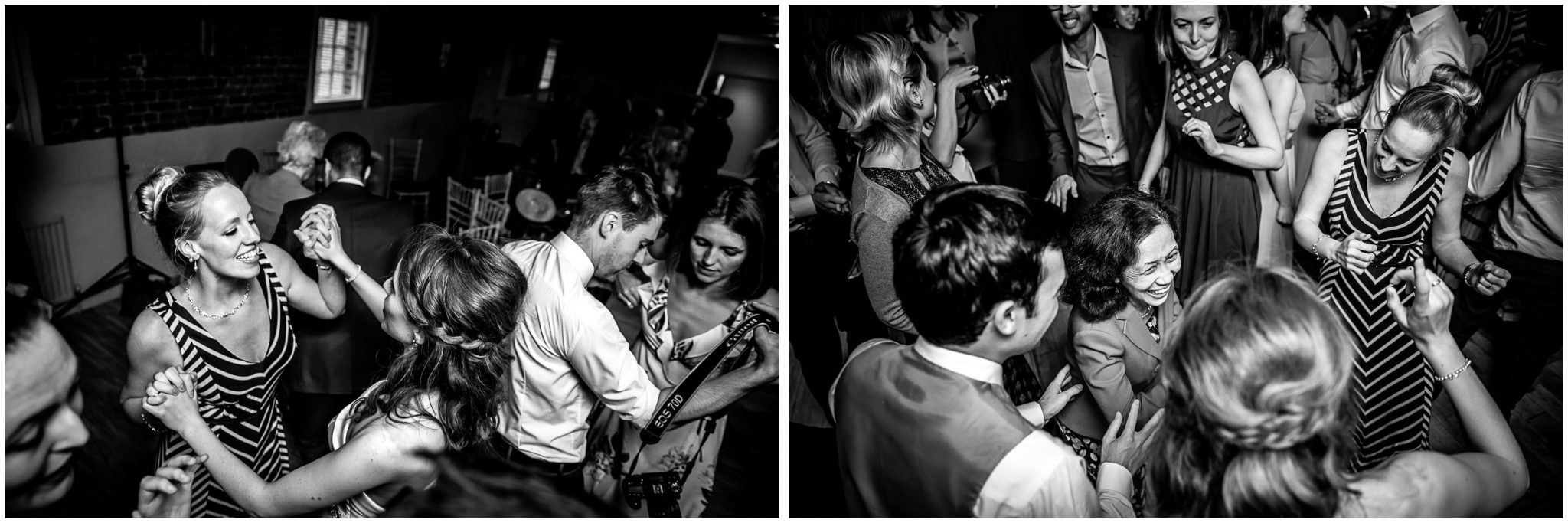 Sopley Mill Summer wedding black and white party photos
