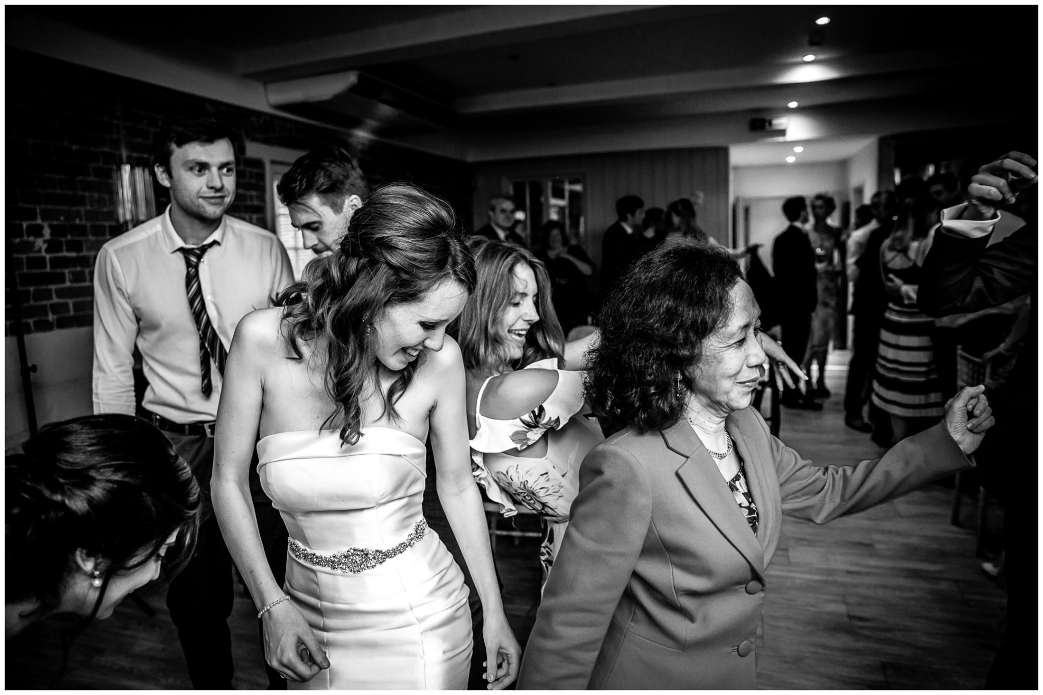 Sopley Mill Summer wedding bride with mother in law dancing