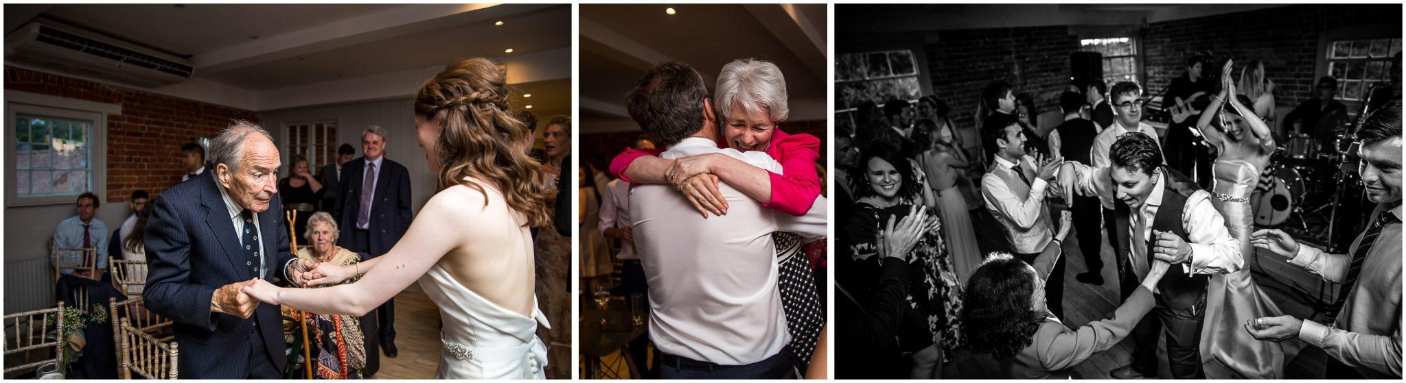 Sopley Mill Summer wedding hugs and kisses