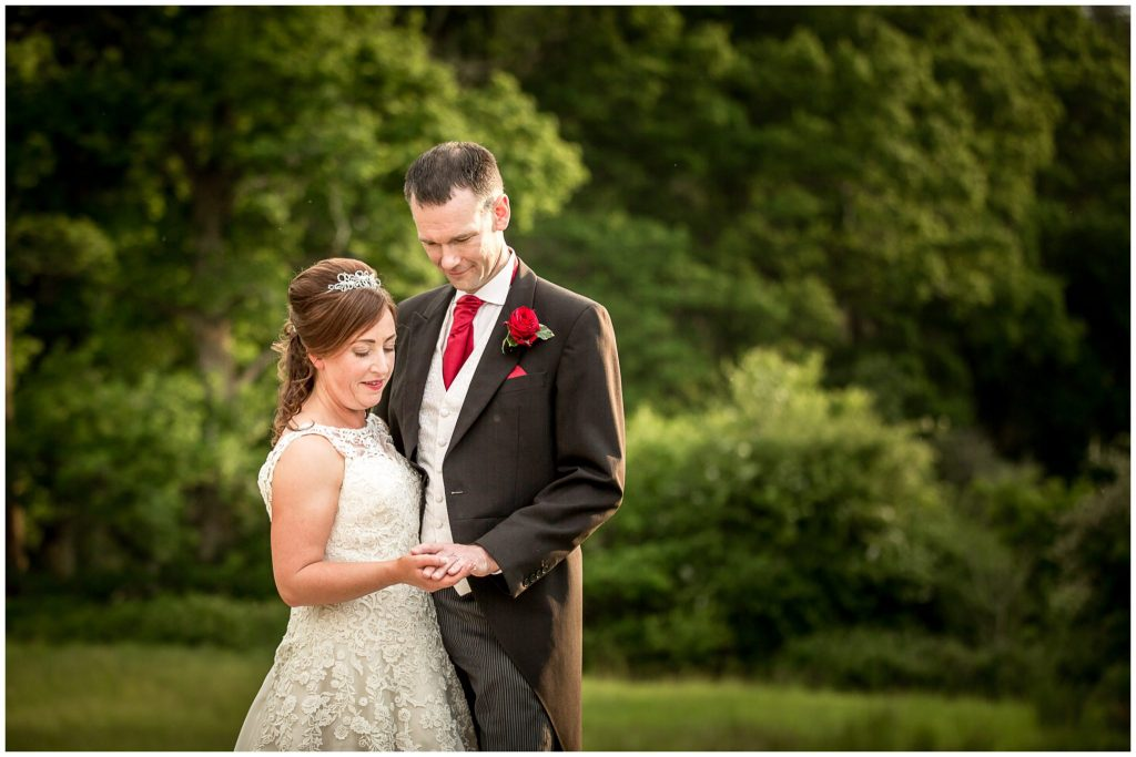Colour portrait of bride and groom