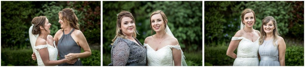 Bride and bridesmaid portraits