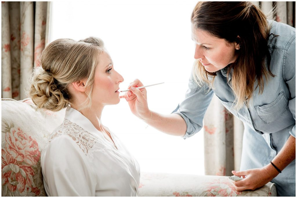 Bridal makeup at Romsey White Horse Hotel