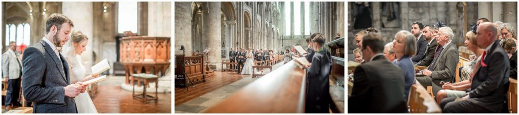 Marriage service at Romsey Abbey