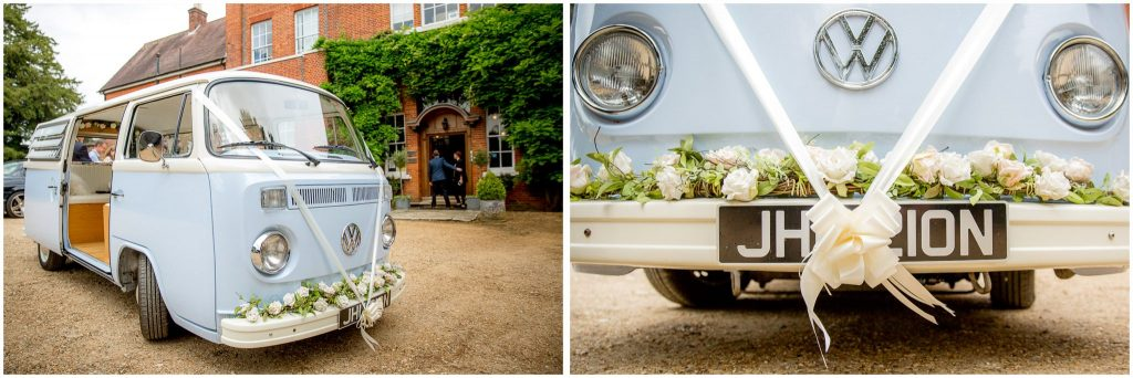 VW camper van wedding car