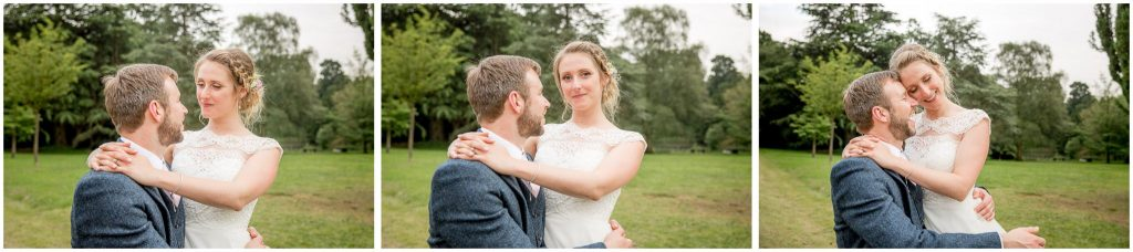 Series of images of bride and groom together