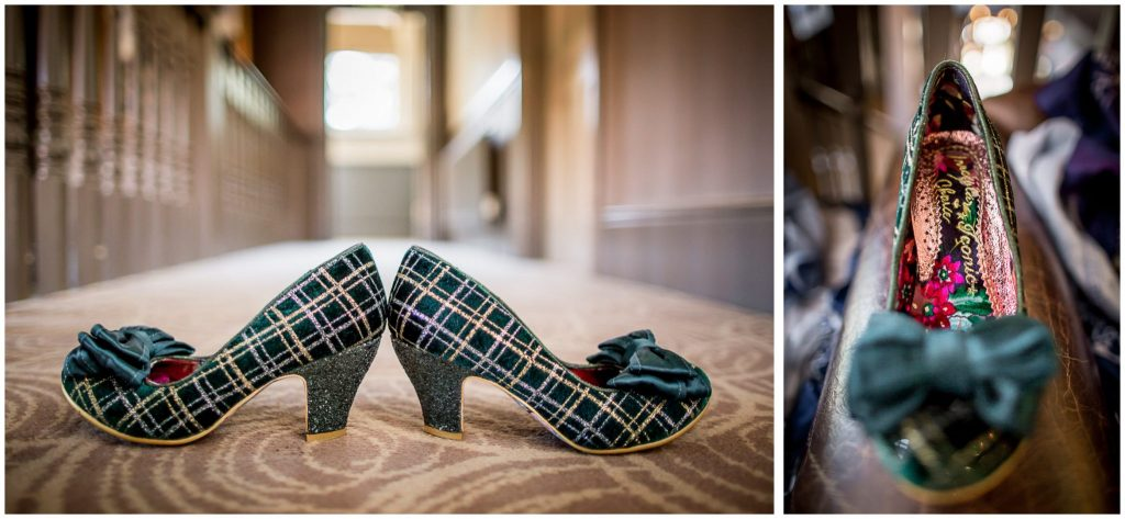 Awesome tartan wedding shoe details