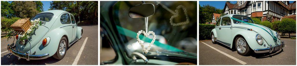 Original VW Beetle wedding car