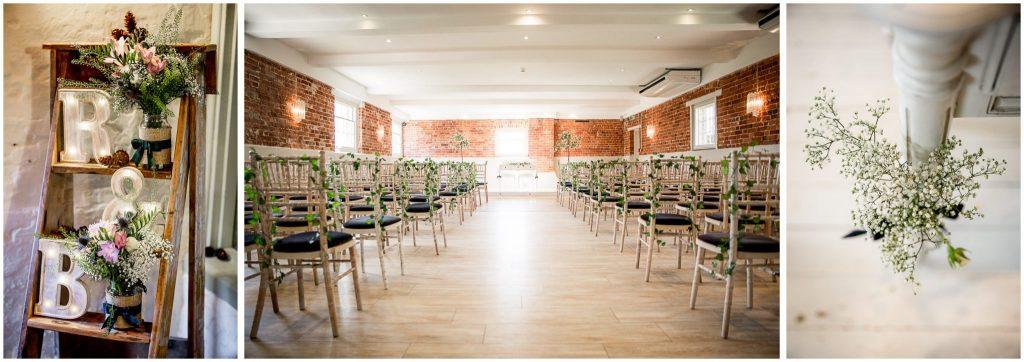 Wedding venue ceremony room details