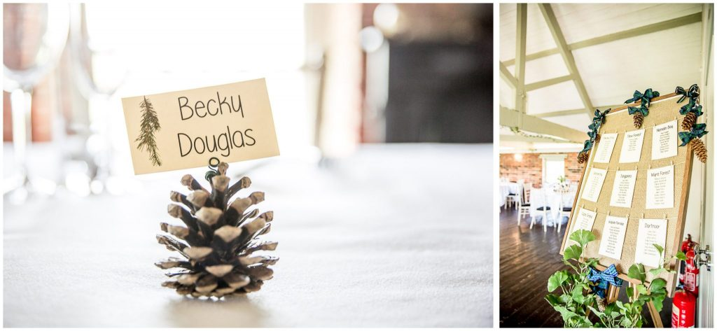 Fir cone forest theme decorations