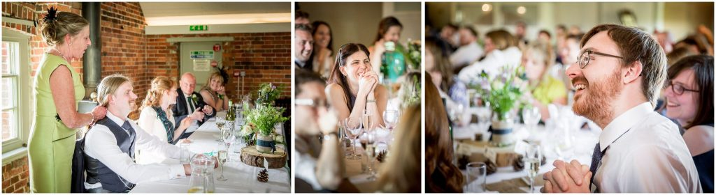 Guests watching and laughing during speeches