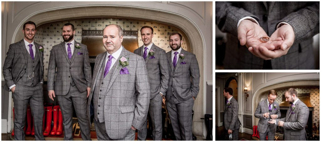 Groom with best men and the rings