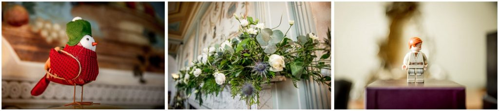 Small details and decorations around wedding venue