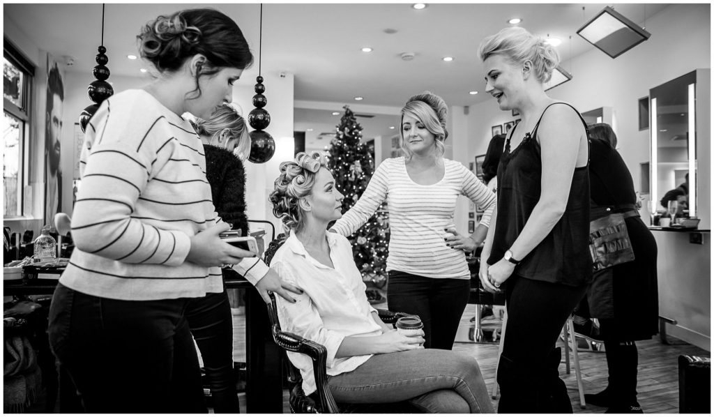 Bridal prep hair makeup Guy Kremer salon Winchester
