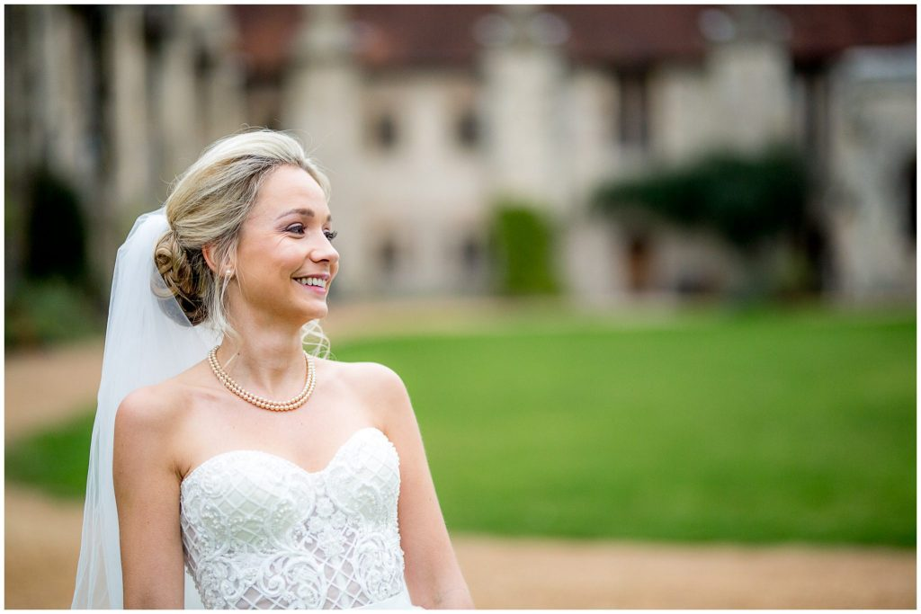 Bride laughing portrait