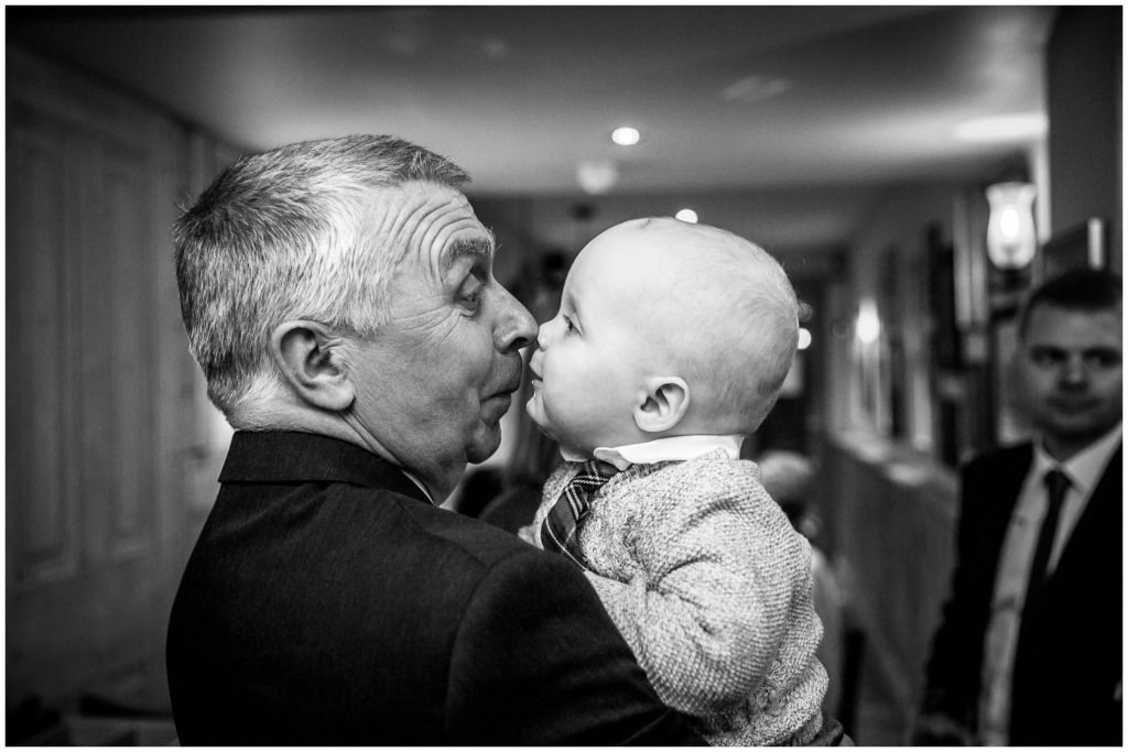 Touching noses youngest wedding guest