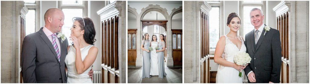 Family photographs in the registry office after the marriage ceremony