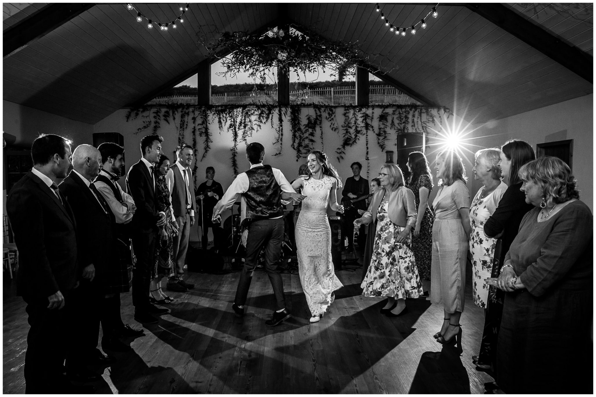 Couple do the first dance of the Ceilidh