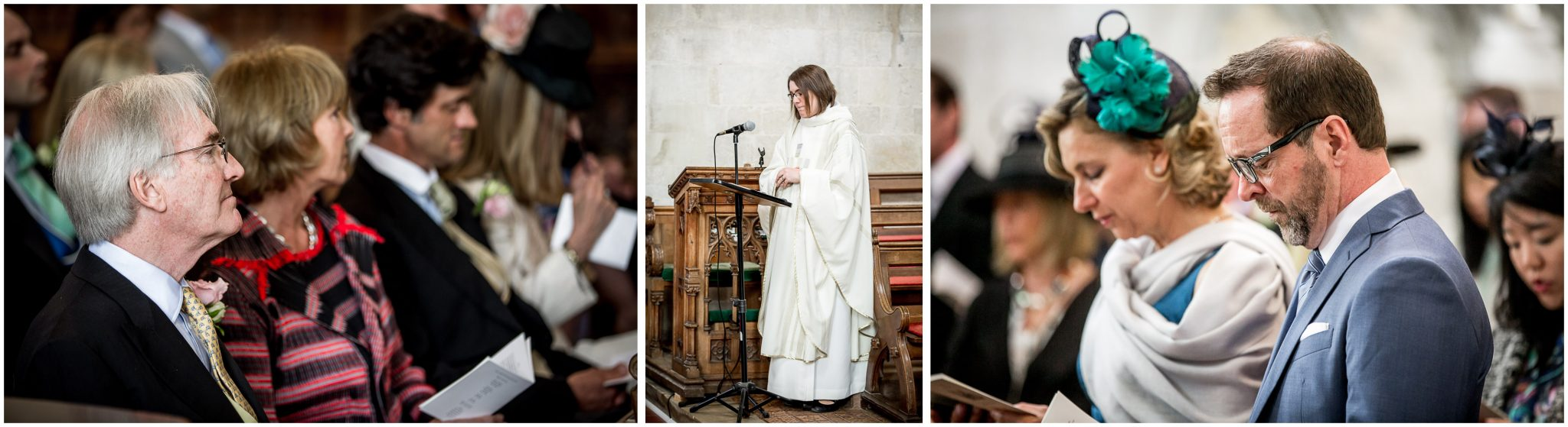 Wedding service at Milton Abbey