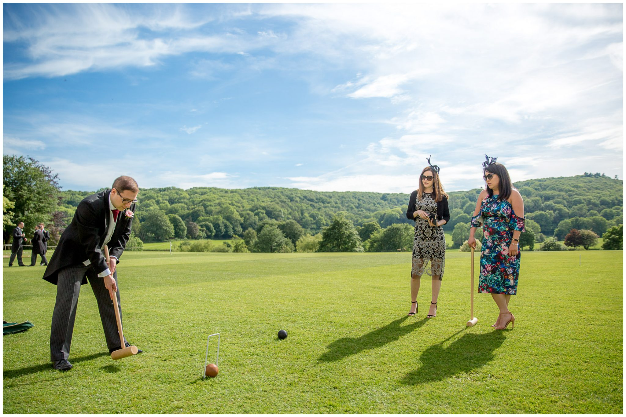 Croquet on the lawn during the drinks reception