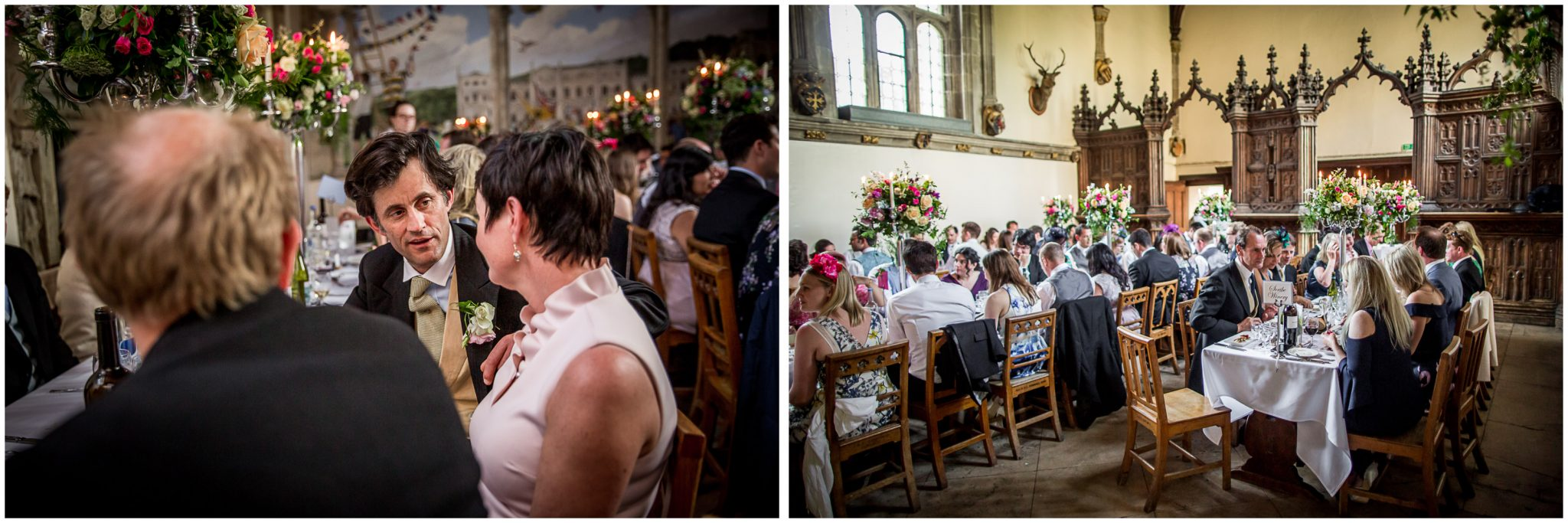 Milton Abbey school dining room wedding breakfast
