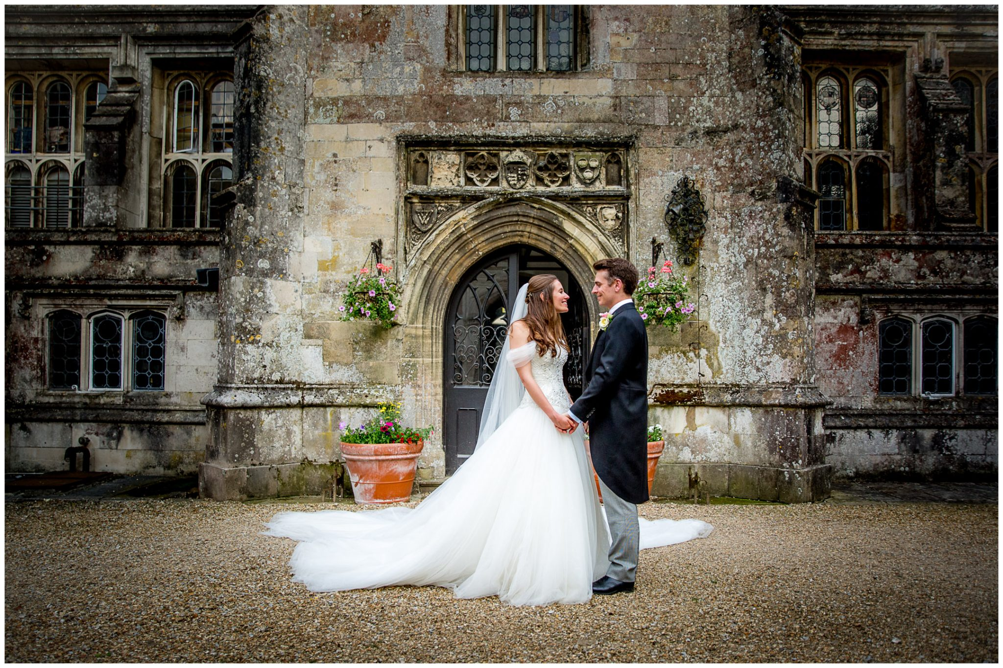 Couple portraits in the Quad at Milton Abbey School