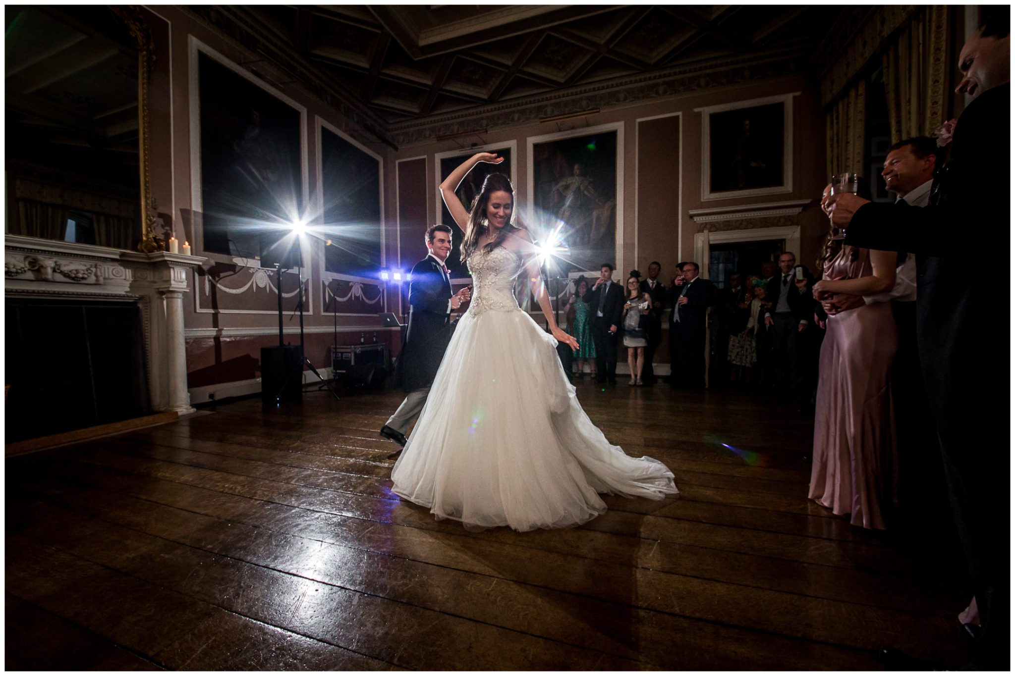 The bride performs a turn during the first dance