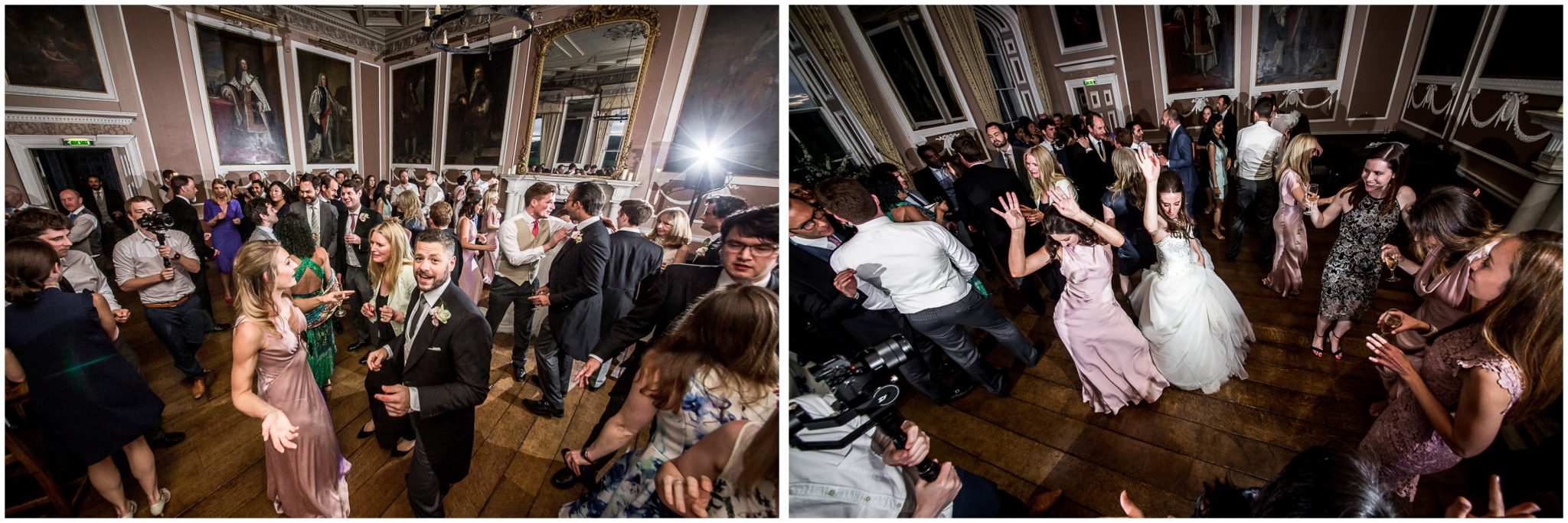 Wedding guests hit the dance floor